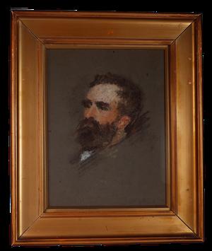 Pastel Portrait of Bearded Male