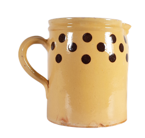 Glazed Earthenware Jug with Spotted Decoration