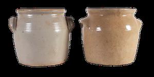 Two Burgundy Confit Pots