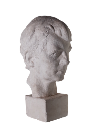 Studio Plaster Bust of Young Man