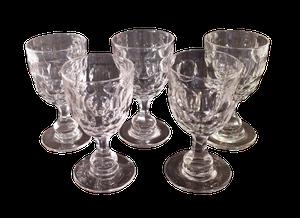 Five Cut Glass Rummers
