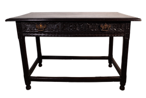 Early Oak Hall Table with Victorian Carving