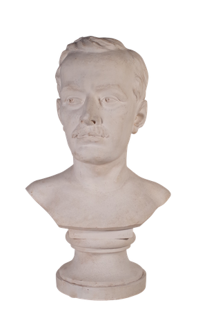 Plaster Bust of Moustached Male