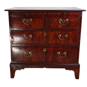 Mahogany Veneered Chest of Drawers with Butler Slide