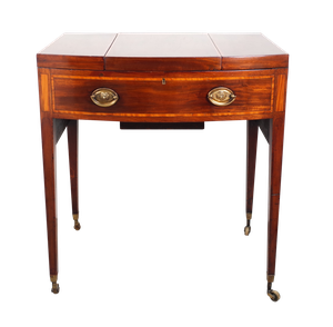 George III Gentlemans Mahogany Vanity Cabinet with Fold Out Leaves