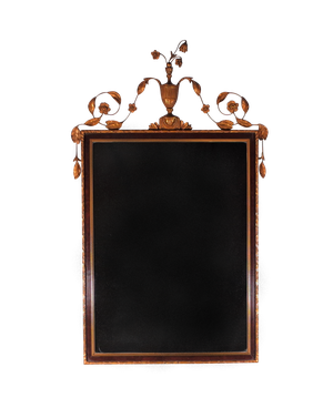 Gesso and Gilt Framed Crested Mirror