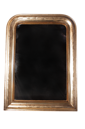 Silver Gilt Dome Top Mirror with Original Mercury Plate
