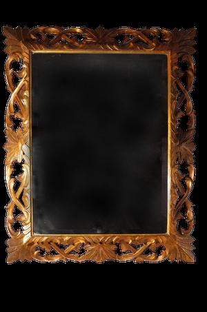 Carved Gilded Oak Framed Bevelled Mirror