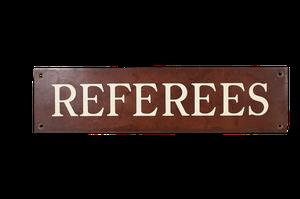 Edwardian Bronze Referee Plaque