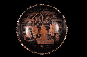 Chinoiserie Papier Mache Bowl