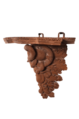 Terre Cuit Wall Bracket with Bird and Serpent