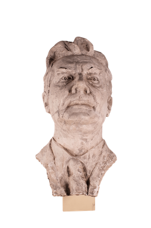 Studio Plaster Bust of Male