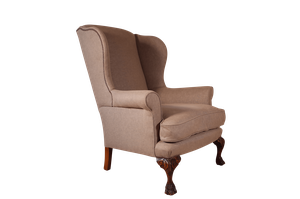 Wingback Country House Armchair on Carved Cabriole Legs