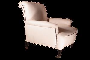 Victorian Scrollback Armchair on Turned Ebonised Legs