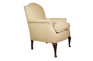 Upholstered Armchair on Tall Cabriole Legs