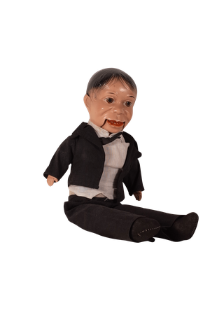 Moulded Articulated Ventriloquist Dummy in Suit