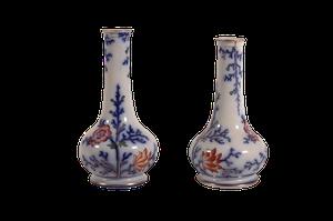 Pair of Staffordshire Stem Vases