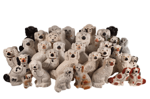 Collection of Forty Staffordshire Flatback Dogs