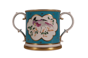 Staffordshire Porcelain Hand Painted Loving Cup