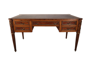 Empire Style Desk with Ormolu Decoration and Leather Top and Slides