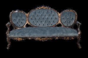 Napoleon III Louis XV Style Chinoiserie Buttoned Salon Canope