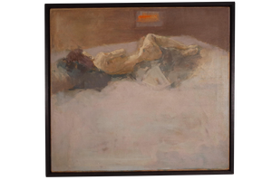 Oil on Canvas of Reclining Nude by L J Prothero