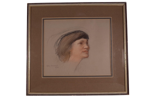 Pastel Portrait of Woman by John Sergeant
