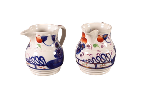 Pair of Gaudyware Jugs