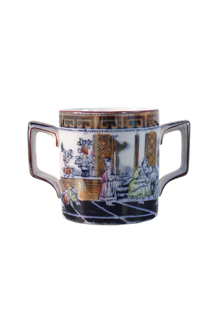 Oriental Decorated Loving Cup