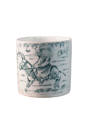 Victorian Cup of Girl on Donkey