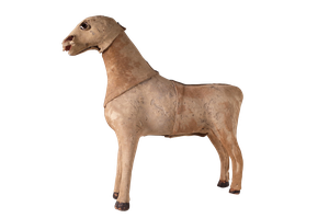 Small Hide Horse with Glass Bead Eyes