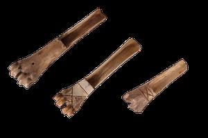 Three Carved Bone Scoops