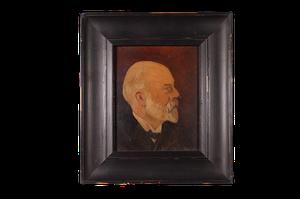 Small Oil on Board of Male Portrait