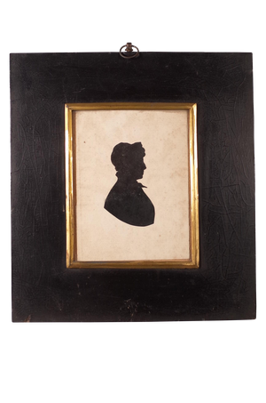 Silhouette of Lady in an Ebonised Frame