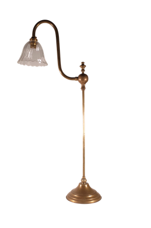 Brass Rise and Fall Clerks Lamp