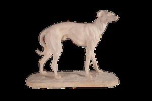 Edwardian Plaster Greyhound
