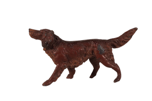 Four Cold Painted Spelter Dogs