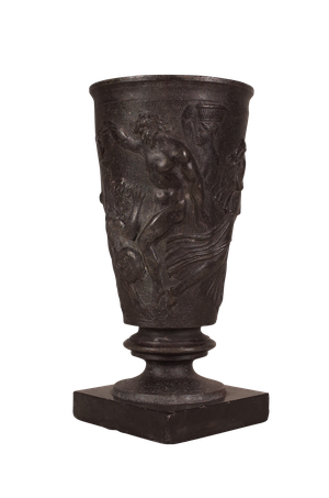 Grand Tour Spelter Chalice on Marble Base