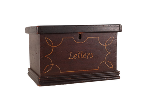 Painted Country House Letter Box