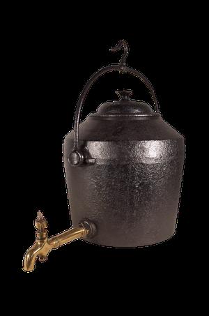 Large Victorian Iron Inglenook Kettle
