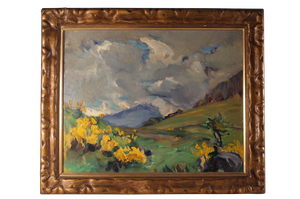 Oil on Board of Highlands Landscape