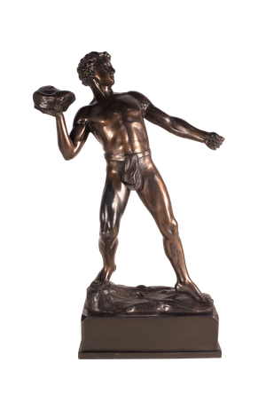 Patinated Bronze Spelter Figure of Olympian Athlete