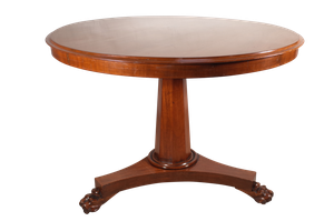 George III Mahogany Tilt Top Pedestal Table