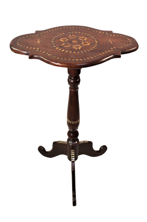Mahogany Parquetry Occassional Table