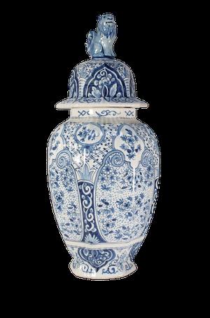 Lidded Delft Jar