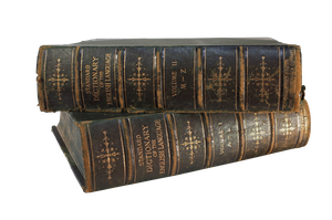 Two Edwardian Hardbound Dictionaries, A - L and M - Z
