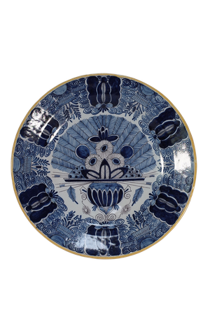 Delft Peacock Design Charger