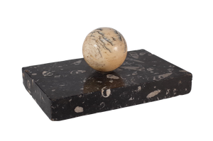 Mounted Snooker Ball on Black Marble Base