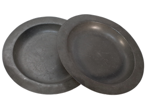Pair of Pewter Dishes