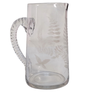 Etched Glass Water Jug